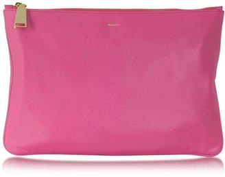 Jil Sander Fine Envelope Leather Clutch