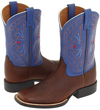 Ariat Quickdraw (Toddler/Little Kid/Big Kid) (Brown Oiled Rowdy/Royal) Cowboy Boots