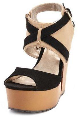 Charlotte Russe Color Block Cutout Wedge Heel