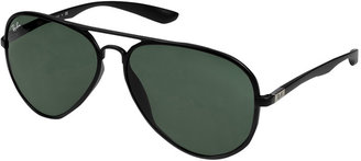 Ray-Ban Matte Black Liteforce Aviator Tech Sunglasses
