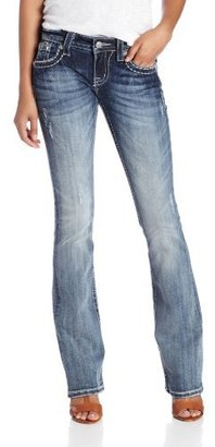Miss Me Juniors Golden Rose Bootcut Jean