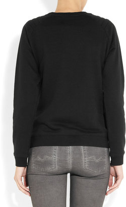Zoe Karssen Bah Humbug cotton-blend terry sweatshirt