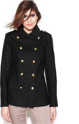 Rachel Roy Double-Breasted Wool-Blend Military Pea Coat