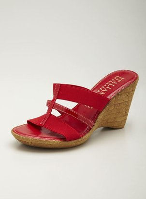 Italian Shoemakers Mid Heel wedge Cork Sandal