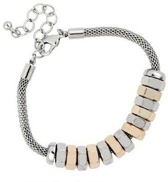 Industrial mixed disc mesh chain bracelet