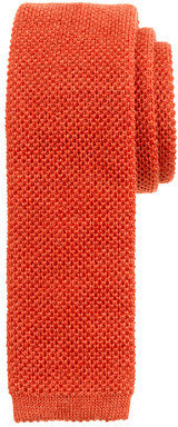 J.Crew Wool knit tie in tangerine