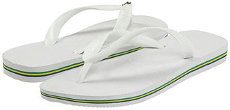 Havaianas Brazil Flip Flops (White) Men's Sandals
