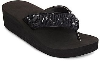 JCPenney Sequin Wedge Sandals