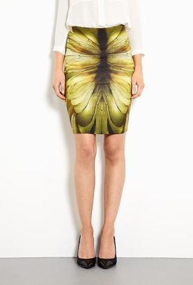 McQ by Alexander McQueen Jersey Wing Print Skirt