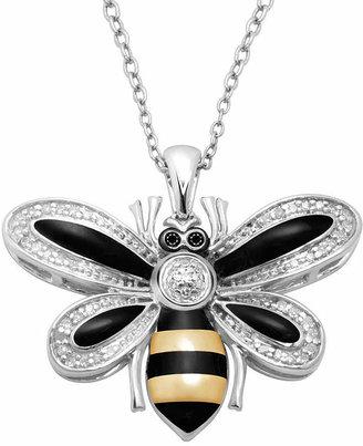Fine Jewelry 1/10 CT. T.W. Diamond Bee Pendant Necklace