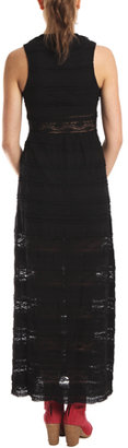 Charlotte Ronson Lace Maxi Dress in Black