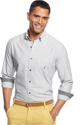 Nautica Shirt, Fine Stripe Long Sleeve Shirt