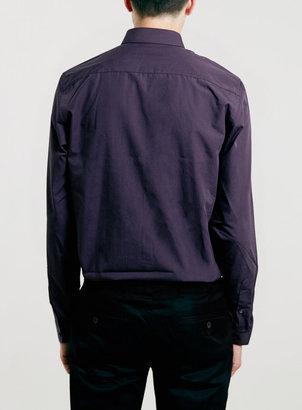 Topman Purple Pocket Long Sleeve Smart Shirt