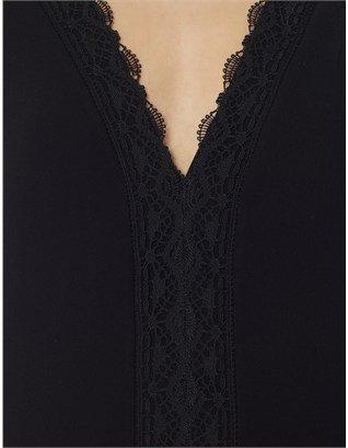 Thakoon Black Scalloped Hem Dress