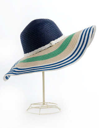 Lauren Ralph Lauren Striped Raffia Sun Hat