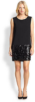 DKNY Sequined Shift Dress