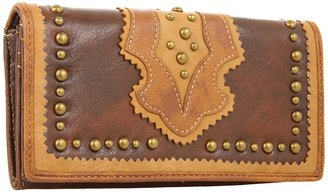 American West Topeka Flap Wallet (Brown) - Bags and Luggage