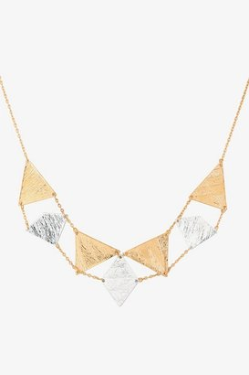 Gold & Silver Chain-Linked Geometric Necklace