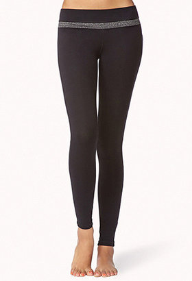 Forever 21 Metallic Skinny Yoga Leggings