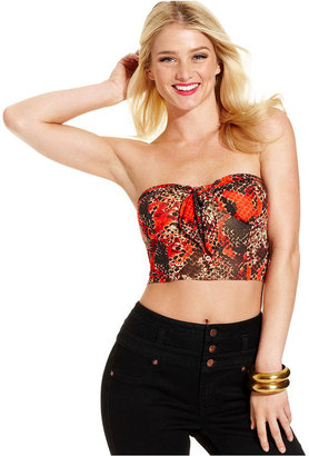 Monroe Marilyn Juniors Top, Strapless Cropped Bustier