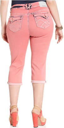 Hydraulic Plus Size Jeans, Bailey Capri, Pink Sorbet Wash