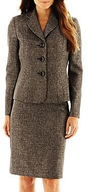 Le Suit 3-Button Jacket with Skirt
