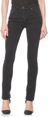 Acne Faded Denim Skinny Jeans, Used Black