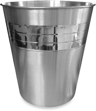 Bed Bath & Beyond Pleated Stainless Steel Waste Basket