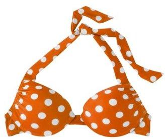 Mossimo Women's Mix and Match Dot Push-Up Swim Top -Mandarin
