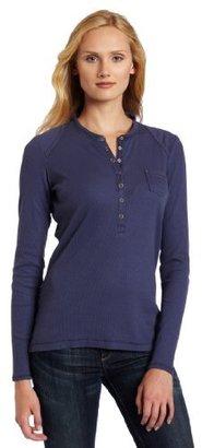 Dickies Women's Long Sleeve Rib Henley Shirt