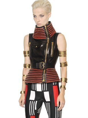 Alexander McQueen Zipped Smooth Leather Vest