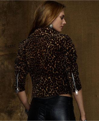 Denim & Supply Ralph Lauren Animal-Print Velvet Jacket