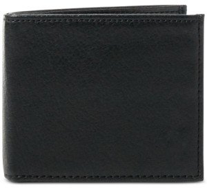 Polo Ralph Lauren Men's Wallet, Pebbled Bifold Wallet