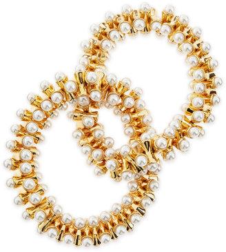 Kenneth Jay Lane Stretchy Pearl-Tip Bracelet