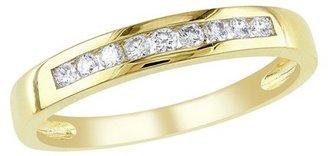 1/5 Ct Diamond Et Ring 10k Yellow Gold - Yellow/White