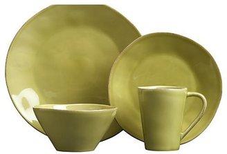Crate & Barrel Marin Green Dinnerware