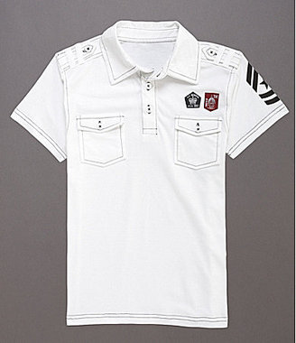 First Wave 8-20 Short-Sleeve Graphic Polo Shirt