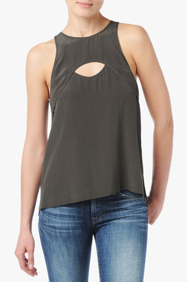 7 For All Mankind Keyhole Tank In Black Forest