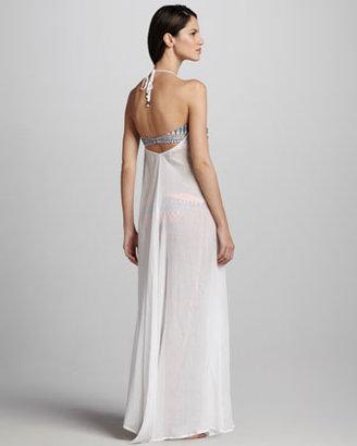 Mara Hoffman Fringed Gauze Maxi Dress