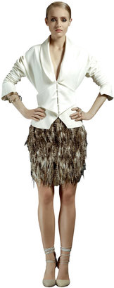 Ozgur Masur Feathered Skirt