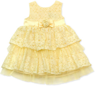 Rare Editions Baby Dress, Baby Girls Tiered Lace Dress