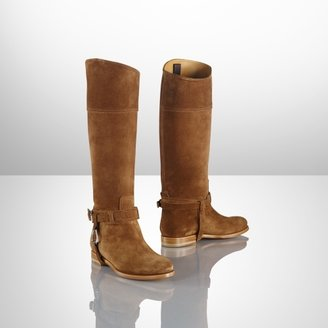 Ralph Lauren Calf-Suede Sage Riding Boot