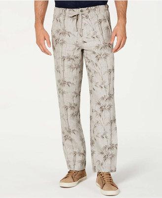 Tasso Elba Men Drawstring Linen Pants