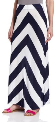 Kensie Women's Striped Maxi Skirt