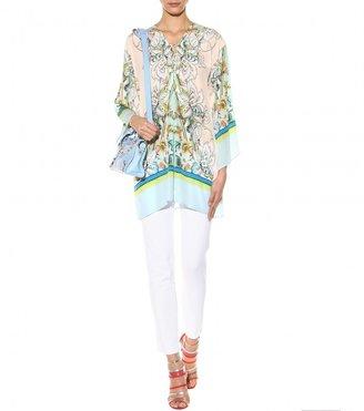 Roberto Cavalli Printed silk tunic