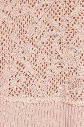 Nina Ricci Open-knit crew-neck sweater