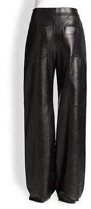 Alexander Wang Wide-Leg Leather Pants