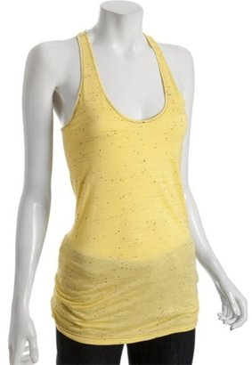 Geren Ford yellow speckled jersey racerback tank