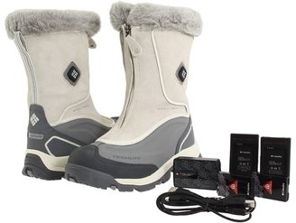 Columbia Bugaboot Plus Zip Electric (Turtle Dove/Metallic Silver) - Footwear