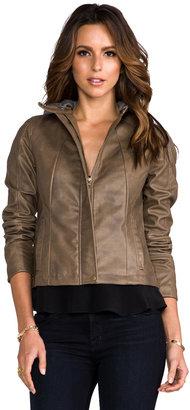 BB Dakota Kaia Hooded Faux Leather Jacket